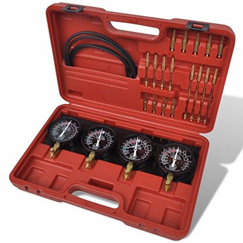 binzhoueushopping Juego para la Sincronización,Hand Tools, de Carburadores con Vacuómetro
