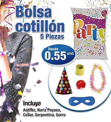 casa imabo Pack x50 Bolsas de Cotillon Plata Eco Mediana,Bolsas de Cotillon (50 Unidades)