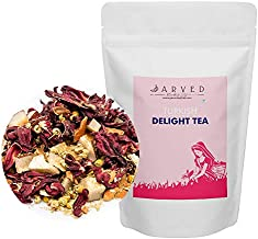 Jarved Turkish Delight Tea: Hibiscus, Chamomile, Cinnamon and Cocnout.(50g, Makes 25 Cups) Special Introductory Price