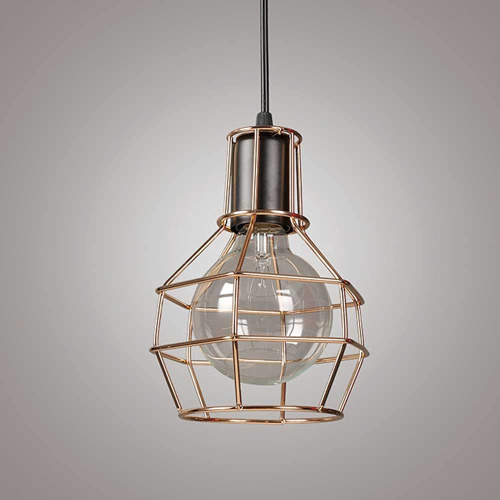 WHKOSK Industrial Year-end annual account Metal Wire Cage Hanging Ranking TOP2 Pendant i Light