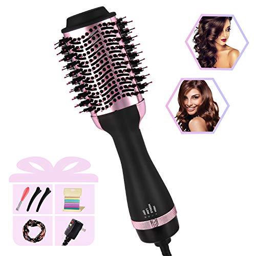 Hot Air Brush, Hair Dryer & Volumizer Brush, Hair Dryer Brush, 4 in 1 Professional Negative Ionic Ceramic Hair Styler for Salon at Home, Anti Scald Frizz-free Blow Dryer Brush