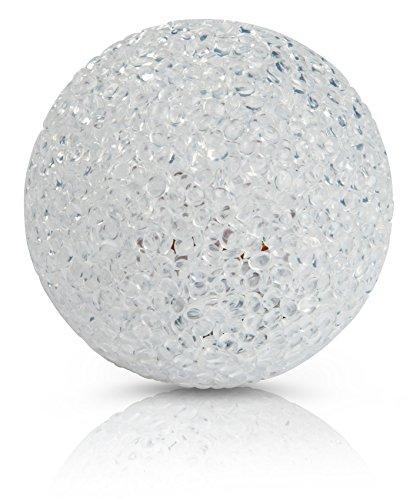CHICCIE LED Kunststoff Kugelleuchte Weiß Mit Timer 8cm - Leuchtkugel Leuchtball Kugel Ball
