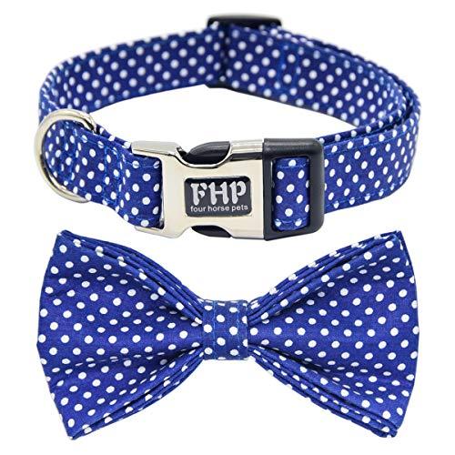 Fourhorse Cute Soft Dog Collar with Bowtie