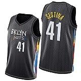Nets #2 Prince #41 Sestina # 13 Shamet Basketball Jersey City Edition Hombres 2021 Nueva camiseta deportiva casual de entrenamiento fitness competición para fans Youth Boy # 41 Sestina-S