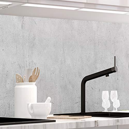 StickerProfis Küchenrückwand selbstklebend - Beton - 1.5mm, Versteift, alle Untergründe, Hart PET Material, Premium 60 x 280cm