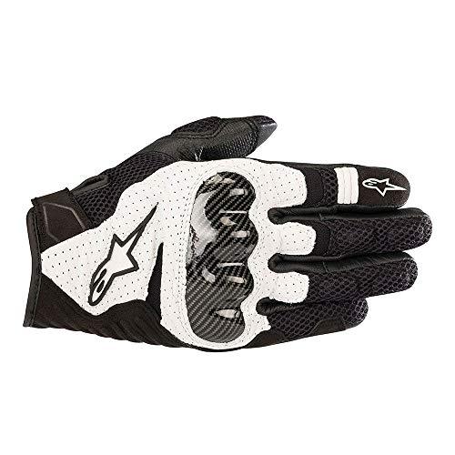 Alpinestars Motorradhandschuhe Smx-1 Air V2 Gloves Black White, Schwarz/Weiss, XXL