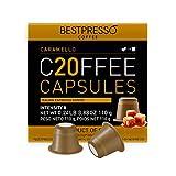 Bestpresso Coffee for Nespresso Original Machine 120 pods Certified Genuine Espresso Caramel Blend(Medium Intensity) Pods Compatible with Nespresso Original 60 Days Satisfaction Guarantee