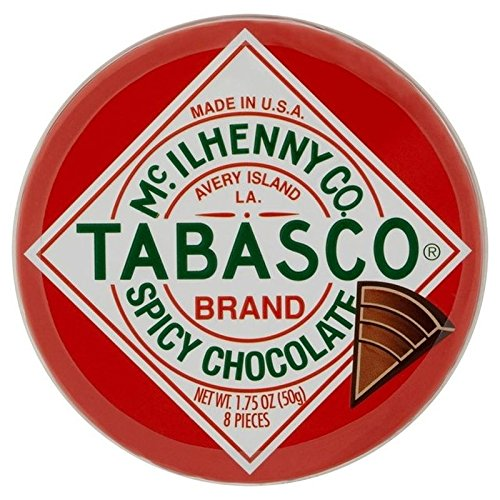 Tabasco Tin of Spicy Chocolate Wedges 50g, 2 Pack