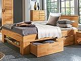 möbelando Bett Bettgestell Einzelbett Doppelbett Bettrahmen Ehebett Massivholz Manuel I 140x200 cm