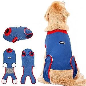 SUSHOU Combinaison de convalescence chirurgicale pour chien, chiot, bandages de protection pour les plaies abdominales, costume chirurgical, vêtements pour animaux domestiques à la maison