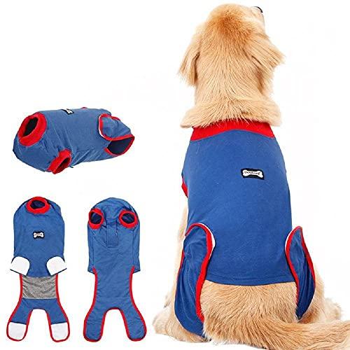 SUSHOU Cirugía de Perros Traje de recuperación Cachorro Chaleco Médico, Vendajes de Herida Abdominal Protector Traje quirúrgico, después de la cirugía Wear, Casera Pets de Interior Ropa