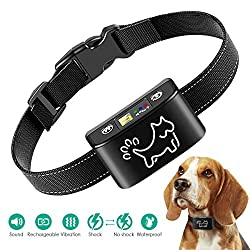 Dog Training Collar, Anti Bark Collar for Small, Medium, Large Dogs - Dog Bark Shock Collar Device to Stop,Control Barking w/Humane Newest Automatic-Black
