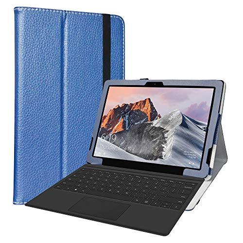 Labanema Custodia per TECLAST X6 PRO, PU Pelle Slim Flip Case Cover Protettiva Pieghevole Stand per 12.6' TECLAST X6 PRO 2 in 1 Laptop Tablet - Azzurro