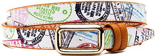 Cintura Donna Bianco Pelle Alviero Martini Belt Woman White Laather