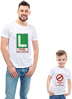 Regalo Personalizado para Padres e Hijos: Pack Personalizado de Camiseta para Padre + Body o Camiseta para Hijo/a