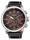 Citizen orologio da polso uomo XL Cronografo al quarzo in pelle ca4210–08E
