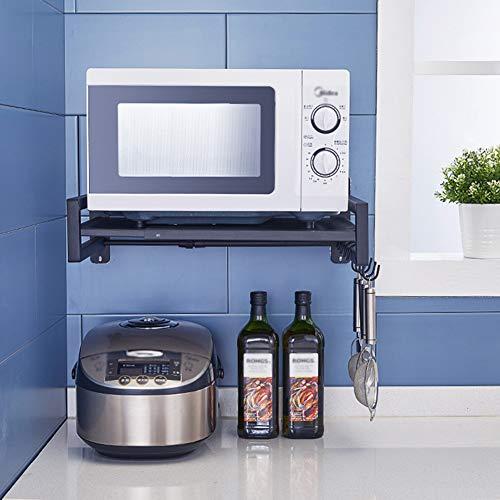 XUE-Y Küchenregalhalter Wandmontiertes Mikrowellen-Regal Versenkbares Gewürzregal Lagerregal