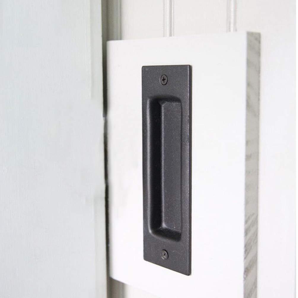 DOITOOL manija para puerta corredera de granero resistente para puertas correderas empotradas con tirador de dedo para puerta de granero: Amazon.es: Bricolaje y herramientas