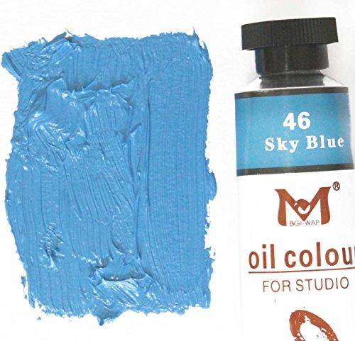 Magi Ölfarbe, 180 ml Großtube, feine Künstlerqualität (12-coelin-blau)