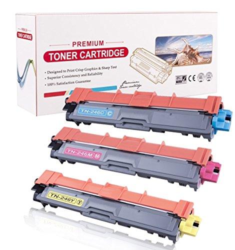 RadTek 3 Toner für Brother HL-3142CW HL-3152CDW HL-3172CDW MFC-9142CDN MFC-9332CDW MFC-9342CDW DCP-9017CDW DCP-9022CDW | Ersetzt Brother TN246C, TN246M, TN246Y | 1 Cyan, 1 Magenta, 1 Gelb
