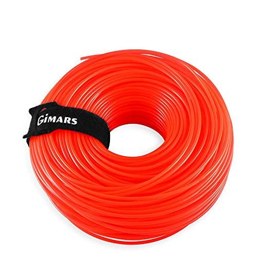 Gimars 2,4mm*110m Filo di Ricambio per Decespugliatore Tagliabordi Tagliaerba Corda Tonda in Nylon per Agricoltura, Paesaggio, Giardinaggio