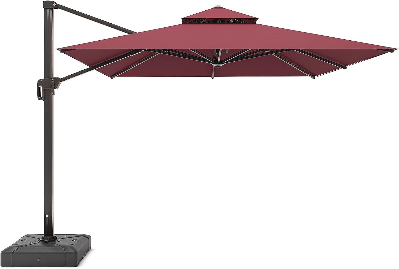FUNWARRIOR 10ft Cantilever 販売実績No.1 Patio Umbrella Outdoor Hanging Square ●日本正規品●