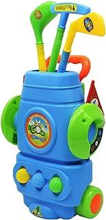 MagiDeal 9Pcs Plastic Mini Golf Play Set Kids Golf Club Set Outdoor Sports Toy - Blue