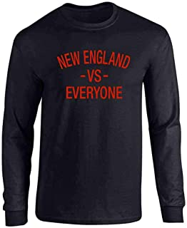 New England vs Everyone Sports Fan Full Long Sleeve Tee T-Shirt