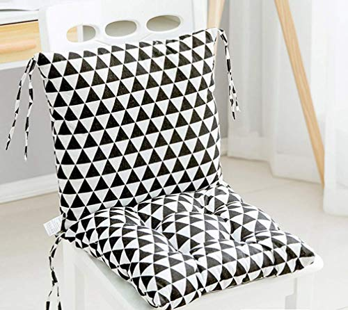 Square Chair Pad Booster Thick Seat Car Seat Cushion Chair Padded Cushion Chair Seat Pads Indoor Outdoor Splittable Washable (D)