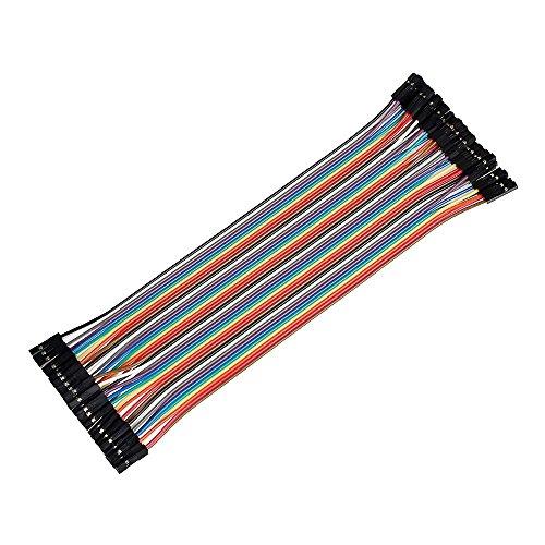 Ganvol 40Pezzi 20cm Femmina a Femmina solderless Flexible breadboard per Arduino, Raspberry Pi Modello A/Model B 11+ 23modulo/Computer/Zero