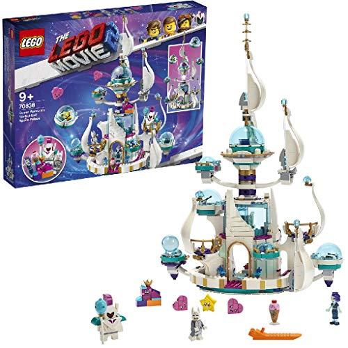 """LEGO Movie - Palacio Espacial """"No Tan Malvado"""" de la Reina Soyloque Set de construccion de Castillo Blanco Inspirado en la LEGO, Pelicula, incluye Minifigura de Batman, Novedad 2019 (70838)"""