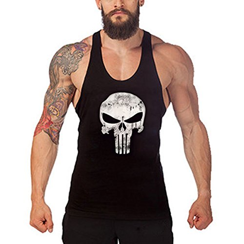 "M: Chest100cm/39.37"" Length61cm/24.01"" Occasion:Casual/Beach/Gym. Washing instructions:Dryclean,Iron on low heat,compatible with any drycleaning methods,bleach,tumble dry with no heat Common style tanktop for bodybuilders, gym fanatics, and men with ..."