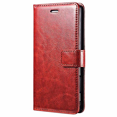 TROUNCE™ Vintage Stylish pu Leather flip Wallet Stand Cover Back case for Sony Xperia Z4 / Z3 Plus+