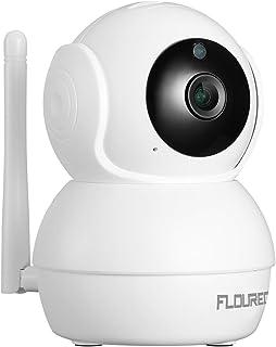 FLOUREON HD 1080P Cámara WiFi IP Cámara de Seguridad para el hogar Inalámbrica Vigilancia CCTV Pan/Tilt Detección de Movimiento Humano Audio Bidireccional Visión Nocturna-Blanco