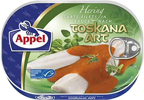 Appel Heringsfilets in Toskana-Sauce, 10er Pack Konserven, Fisch in Toskanasauce