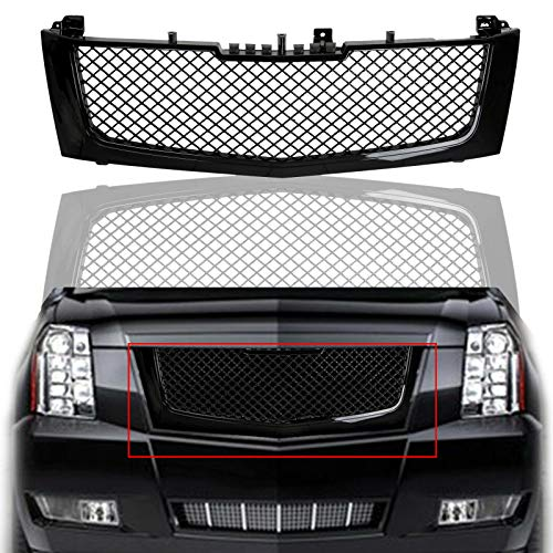 BEMOFRLAY Mesh Front Bumper Grille Grill Replacement Fit for 2002-2006 Cadillac Escalade
