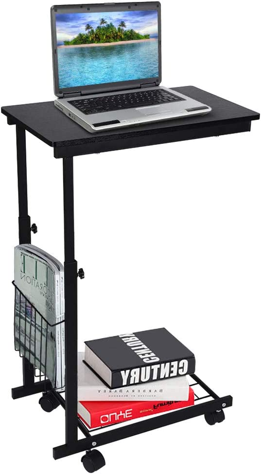Rolling Portland Mall Adjustable Side Table Slide Un Moveable Sofa Dealing full price reduction