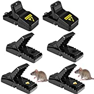 prettop Mouse Traps Professional Mice Trap Blow Trap Rat Trap, 6Pack Mouse Killer, Efficient, Quick Killing, Can be Reused in the Kitchen and in the Garden.