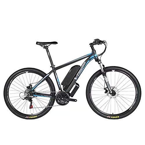 HJHJ Bicicleta de montaña eléctrica, batería híbrida de Litio 36V10AH (26-29 Pulgadas) Bicicleta para Nieve 24 líneas tracción mecánica del Disco línea mecánica de Freno de Disco,Blue,27.5 * 15.5in