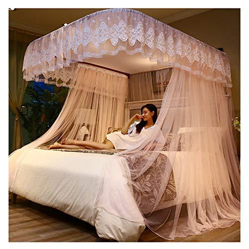 Canopy Para Cama De Princesa, Mosquitera, Riel En Forma De U, Cortinas Para Cama, Toldo Para Cama De 1,5-2,2 M, Red Para Cama Con Dosel, 3 Aberturas, Decoración De Dormitorio(Size:for 1.8m/6 feet bed)