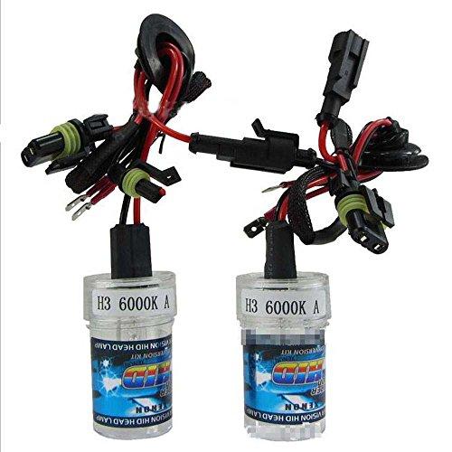 Boomboost New Car Xenon HID Ampoule une paire de xénon HID lampe H3 6000 K