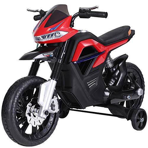 HOMCOM Moto Eléctrica para Niños 3+ años Moto de Juguete Infantil Batería...