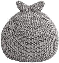 stool Schoenverandering Bean Bag 56 * 52cm Luie bank wasbaar geweven bank Thuis woonkamer persoonlijkheid zitzak Bank (Kle...