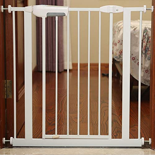 Review Of Huo Safety Gate Extra Wide Stairs Gate Hallway Doorway Baby Gates Pressure Mount (Size : 6...