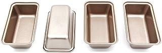 LUFEIYA Mini Bread Loaf Pan, 6 Inch Cake Tin 4pc Non-stick Bakeware Baking Pans for Instant Pot Gold
