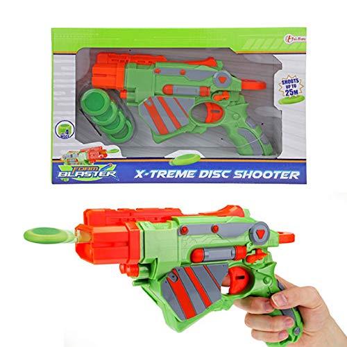 Onbekend Foam Disc Shooters Vliegtuig schijfbescherming met 4 schijven voor kinderen handgeweer pistool wapen geweer jongens vrije tijd kinderspeelgoed