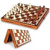 Dosenstek Folding Hand Crafted Wooden Wood Chess Set 30 X 30CM
