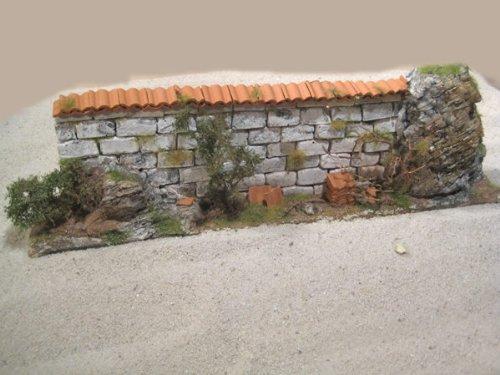 Mauer mit Tondachziegel (Bausatz)
