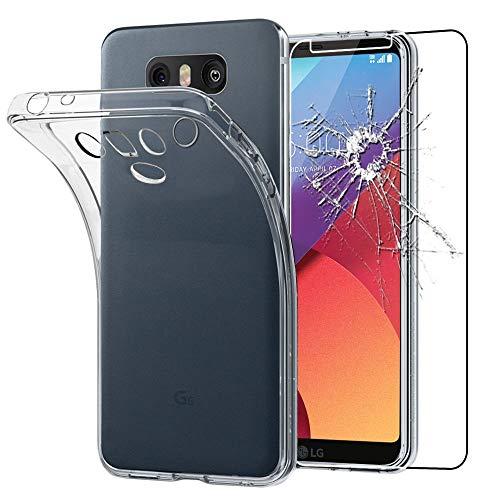 """ebestStar - Cover Compatibile con LG G6 H870, G6 Dual Custodia Trasparente Silicone Gel TPU Protezione Morbida, Trasparente +Pellicola Vetro Temperato [Apparecchio: 148.9 x 71.9 x 7.9mm, 5.7""""]"""