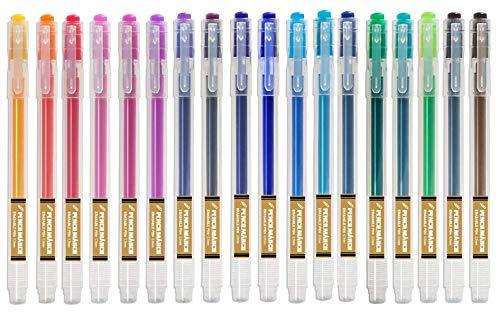 Penne Cancellabili Punta 0.7 mm – Penna Colori Assortiti Confezione da 18 - PENCILMARCH
